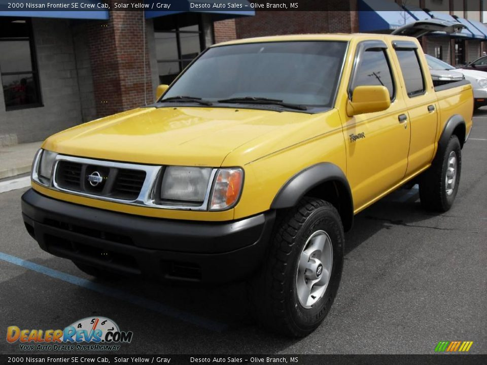 2000 nissan frontier se crew cab solar yellow gray photo 2. Black Bedroom Furniture Sets. Home Design Ideas