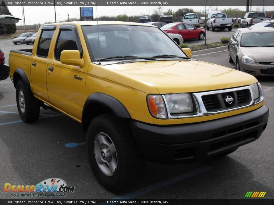 2000 nissan frontier se crew cab solar yellow gray photo 4. Black Bedroom Furniture Sets. Home Design Ideas