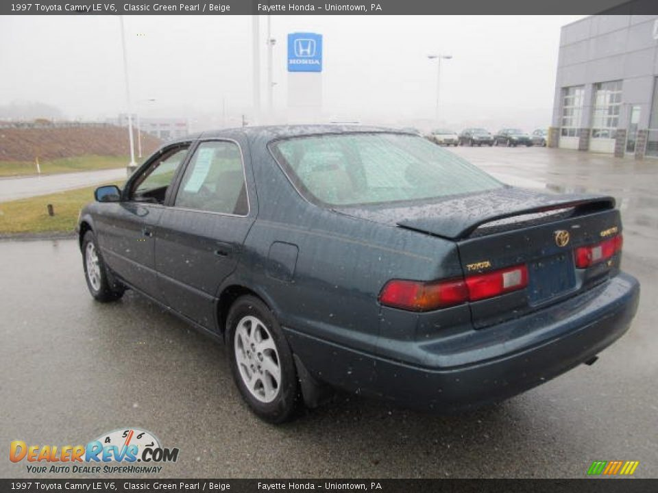 1997 Toyota Camry Le V6 Classic Green Pearl Beige Photo 15