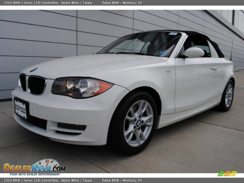 Bmw 128i Convertible >> 2009 BMW 1 Series 128i Convertible Alpine White / Taupe Photo #1 | DealerRevs.com