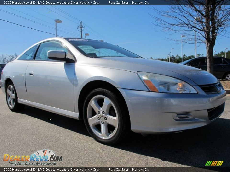 2006 honda accord ex l v6 coupe alabaster silver metallic gray photo 4. Black Bedroom Furniture Sets. Home Design Ideas