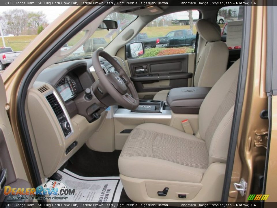 Light Pebble Beige Bark Brown Interior 2012 Dodge Ram 1500 Big Horn Crew Cab Photo 7