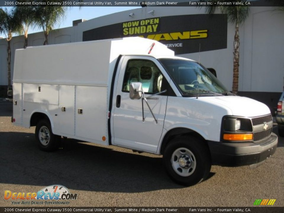 2006 chevrolet express cutaway 3500 commercial utility van summit white medium dark pewter. Black Bedroom Furniture Sets. Home Design Ideas