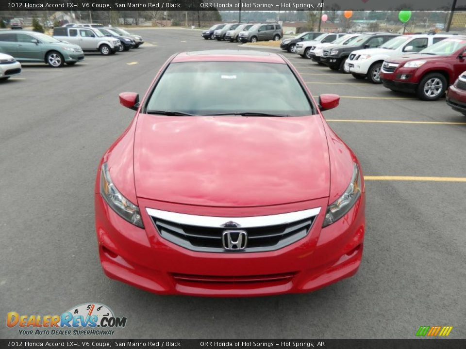 2012 honda accord ex l v6 coupe san marino red black photo 8. Black Bedroom Furniture Sets. Home Design Ideas