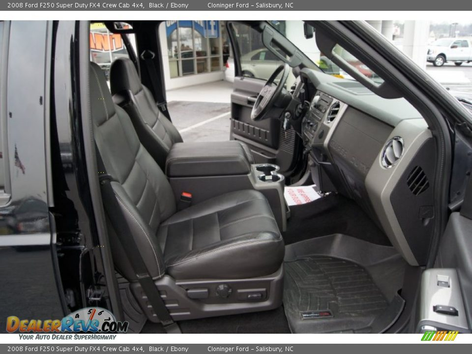 Front Seat of 2008 Ford F250 Super Duty FX4 Crew Cab 4x4 Photo #12