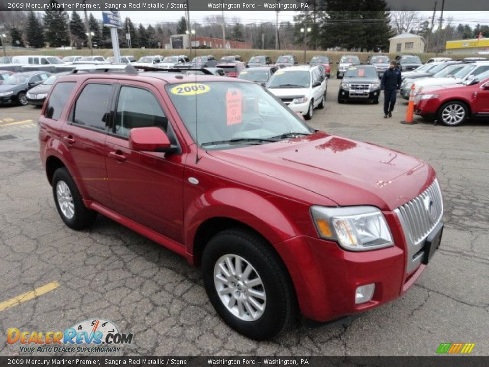 2009 Mercury Mariner Premier Sangria Red Metallic / Stone Photo #6
