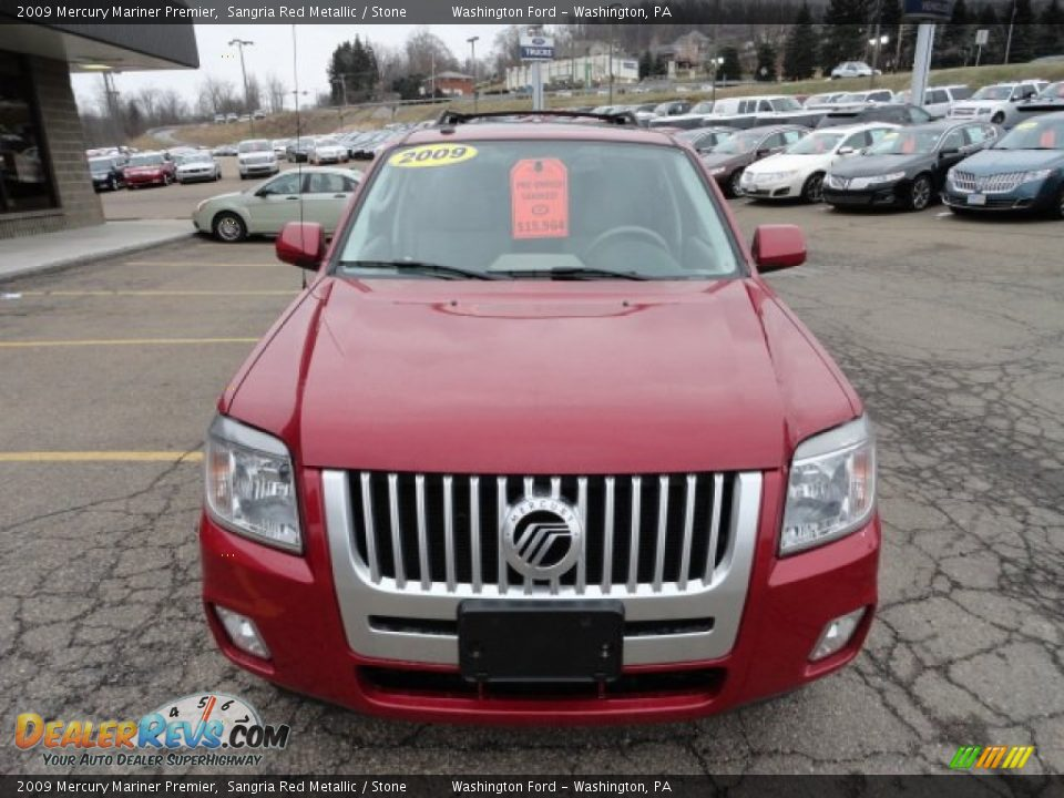 2009 Mercury Mariner Premier Sangria Red Metallic / Stone Photo #7