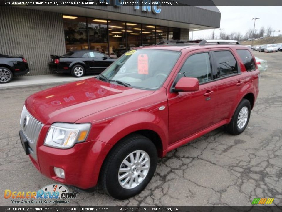 2009 Mercury Mariner Premier Sangria Red Metallic / Stone Photo #8