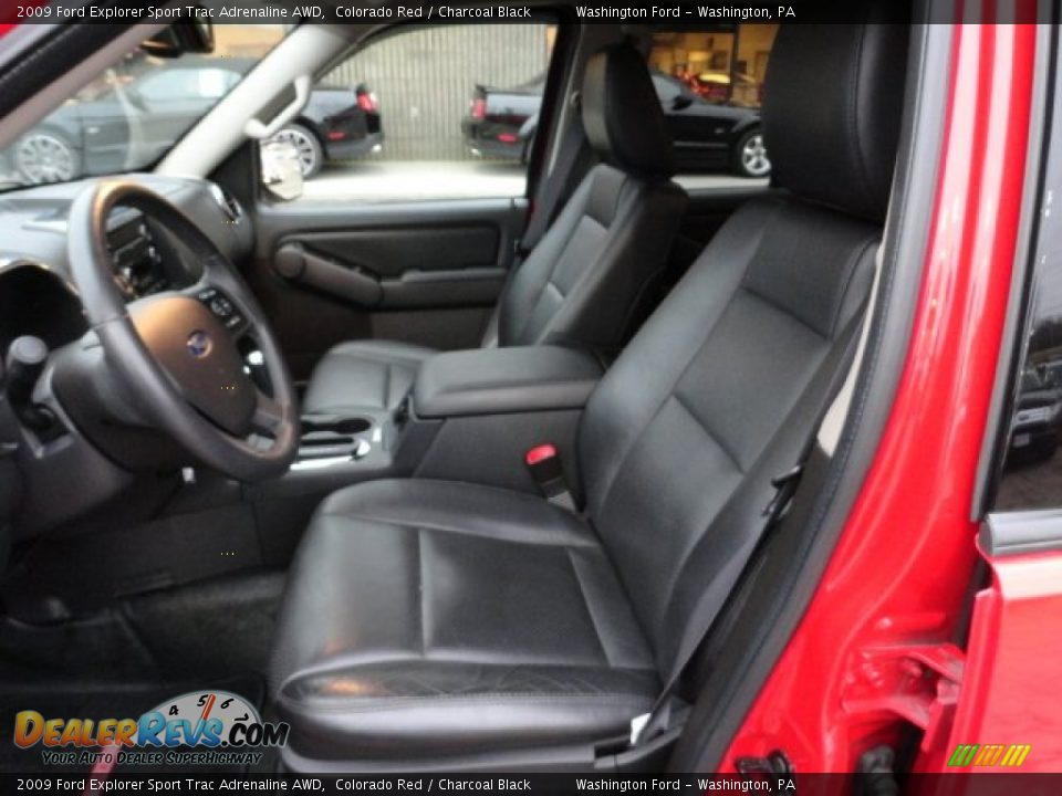 Charcoal Black Interior 2009 Ford Explorer Sport Trac