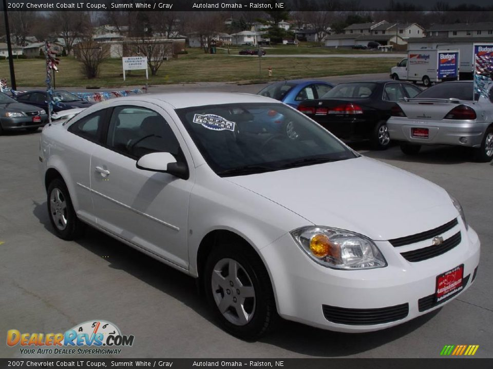 2007 chevrolet cobalt lt coupe summit white gray photo. Black Bedroom Furniture Sets. Home Design Ideas