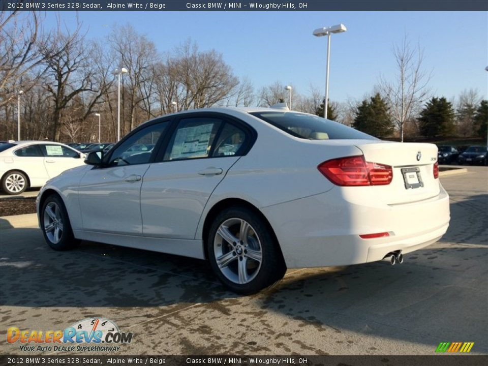 2012 bmw 3 series 328i sedan alpine white beige photo 2. Black Bedroom Furniture Sets. Home Design Ideas