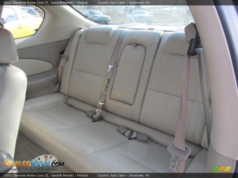 Rear Seat Of 2002 Chevrolet Monte Carlo Ss Photo  10