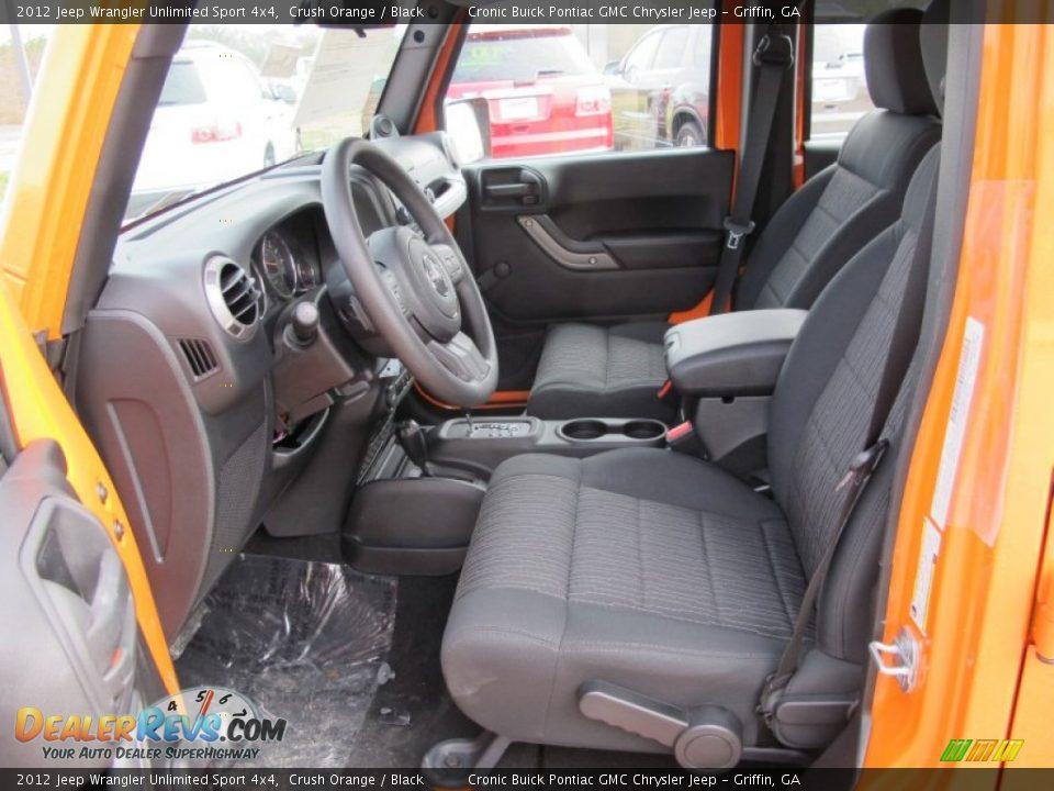 Black interior 2012 jeep wrangler unlimited sport 4x4 - 2012 jeep wrangler unlimited interior ...