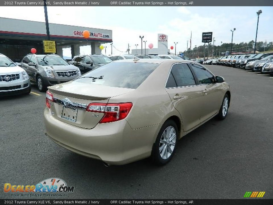 2012 toyota camry xle v6 sandy beach metallic ivory photo 3. Black Bedroom Furniture Sets. Home Design Ideas