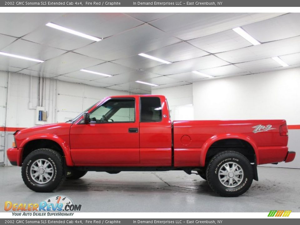 2002 gmc sonoma sls extended cab 4x4 fire red graphite. Black Bedroom Furniture Sets. Home Design Ideas