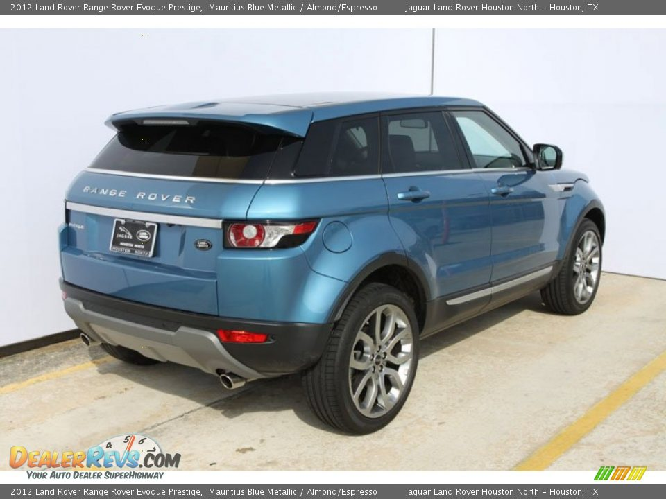 2012 Land Rover Range Rover Evoque Prestige Mauritius Blue Metallic / Almond/Espresso Photo #3
