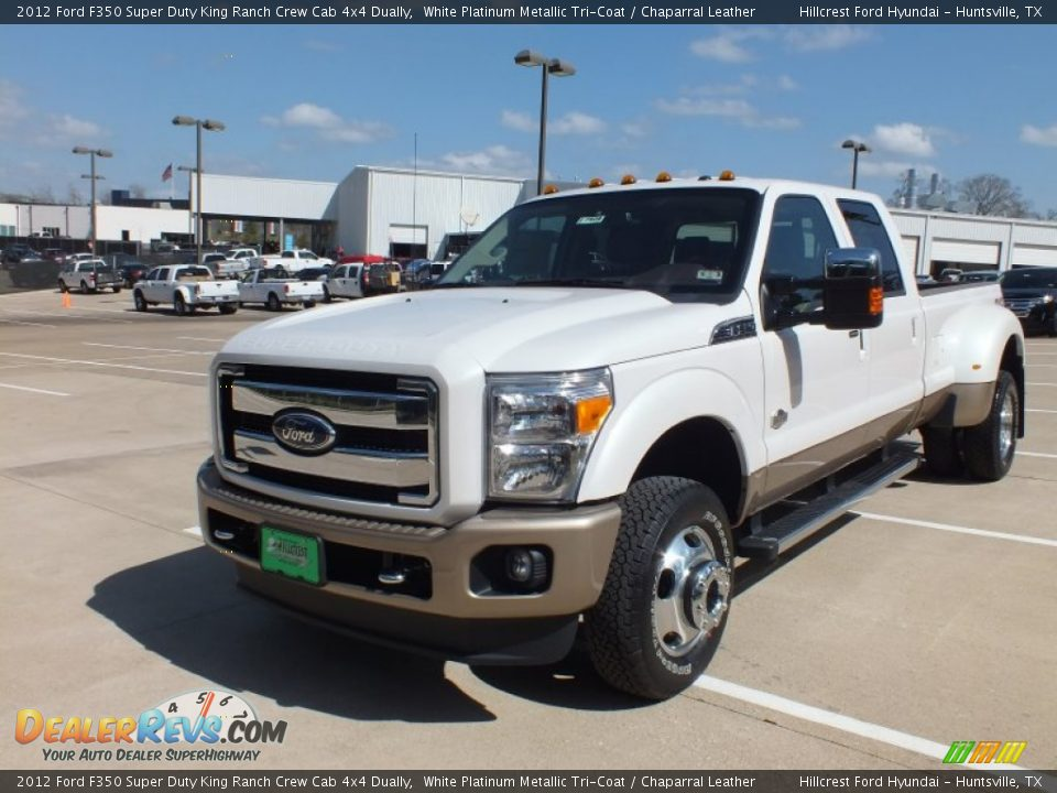 2012 ford f350 super duty king ranch crew cab 4x4 dually white platinum metallic tri coat. Black Bedroom Furniture Sets. Home Design Ideas