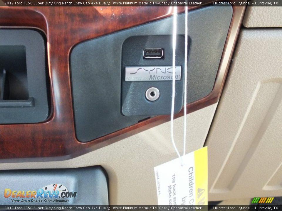 2012 ford f350 super duty king ranch crew cab 4x4 dually white platinum metallic tri coat