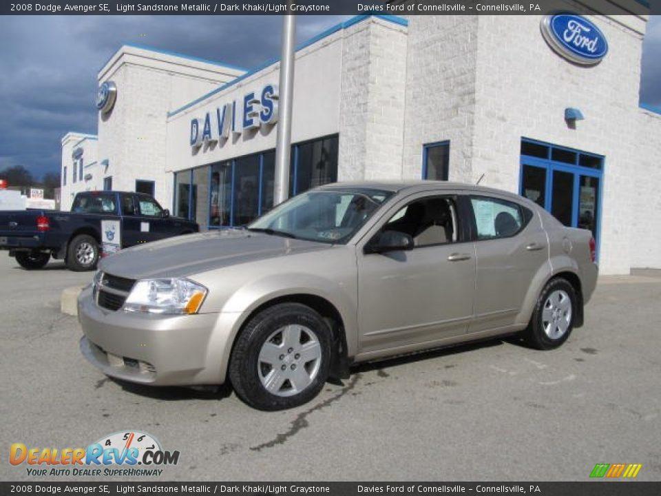 2008 Dodge Avenger Se Light Sandstone Metallic Dark