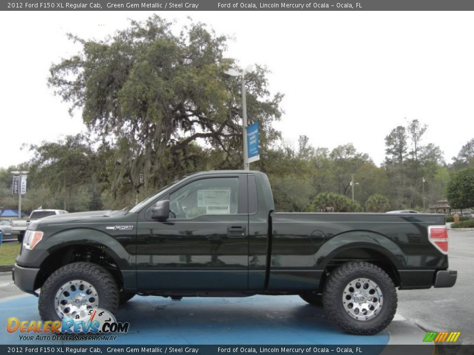 2012 ford f150 xl regular cab green gem metallic steel gray photo 2. Black Bedroom Furniture Sets. Home Design Ideas