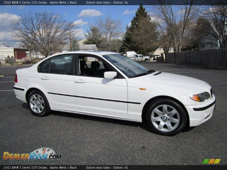 2002 Bmw 3 Series 325i Sedan Alpine White Black Photo