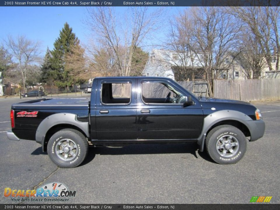 2003 nissan frontier xe v6 crew cab 4x4 super black gray. Black Bedroom Furniture Sets. Home Design Ideas