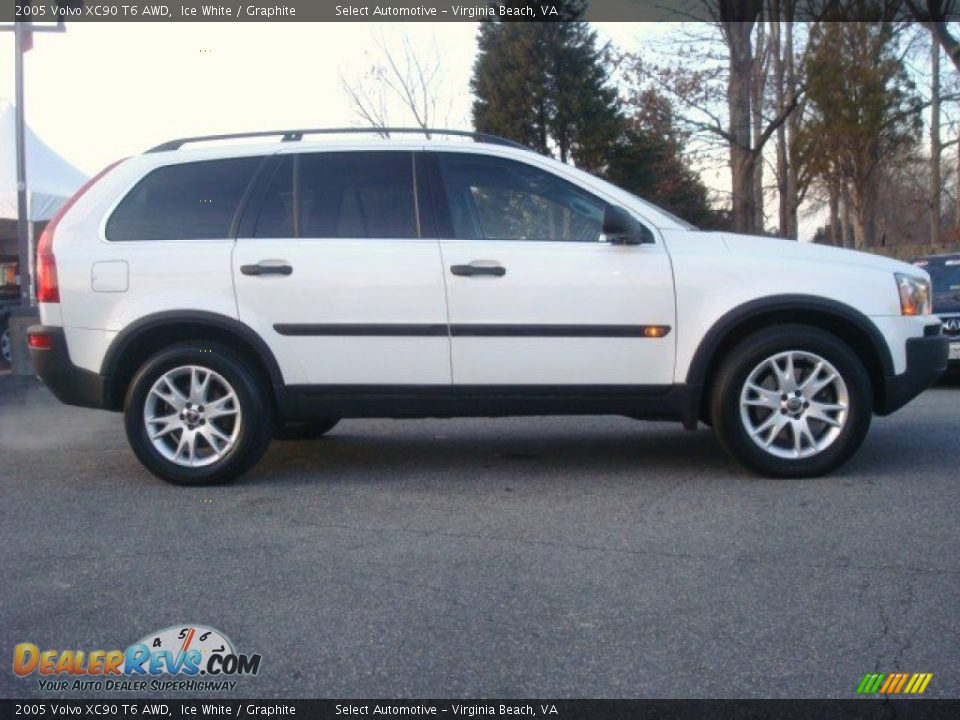2005 Volvo Xc90 T6 Awd Ice White Graphite Photo 5