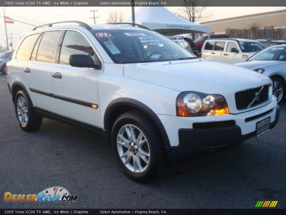 2005 Volvo Xc90 T6 Awd Ice White Graphite Photo 6 Dealerrevs Com