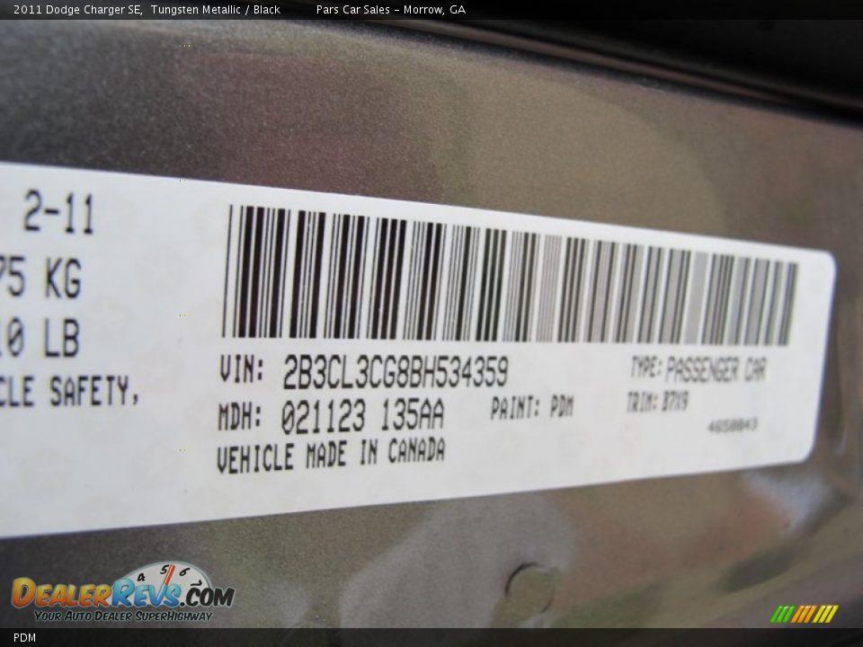 Dodge Color Code PDM Tungsten Metallic