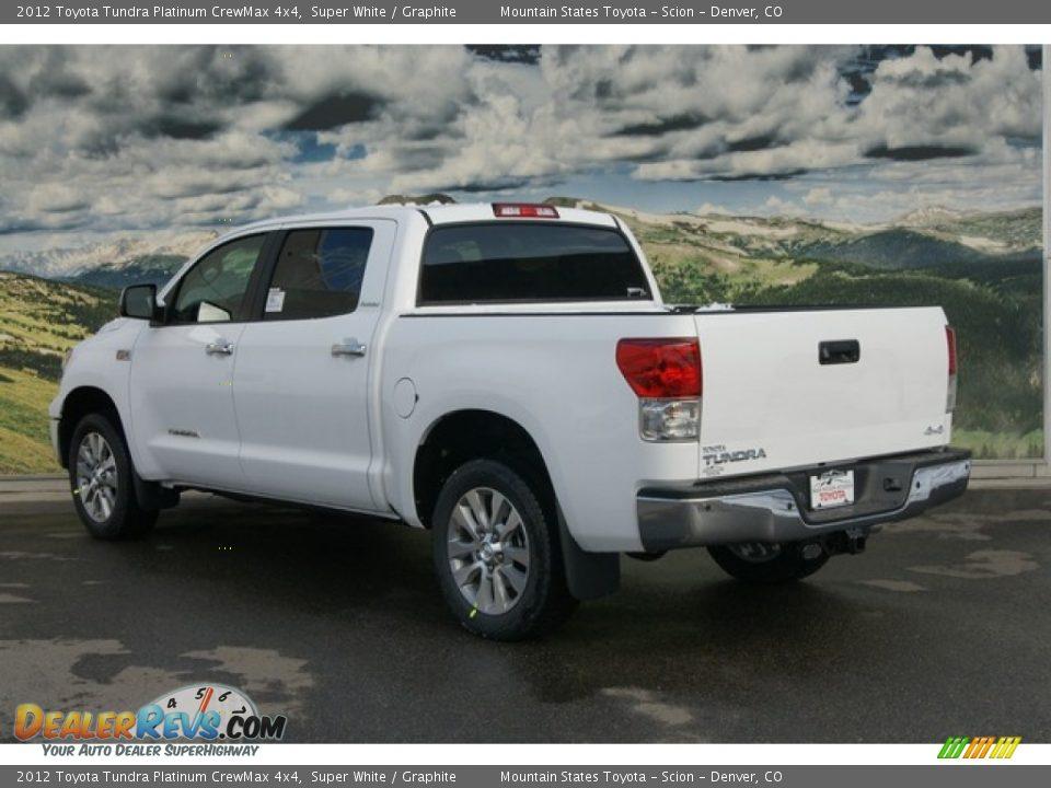 2012 Toyota Tundra Platinum Crewmax 4x4 Super White