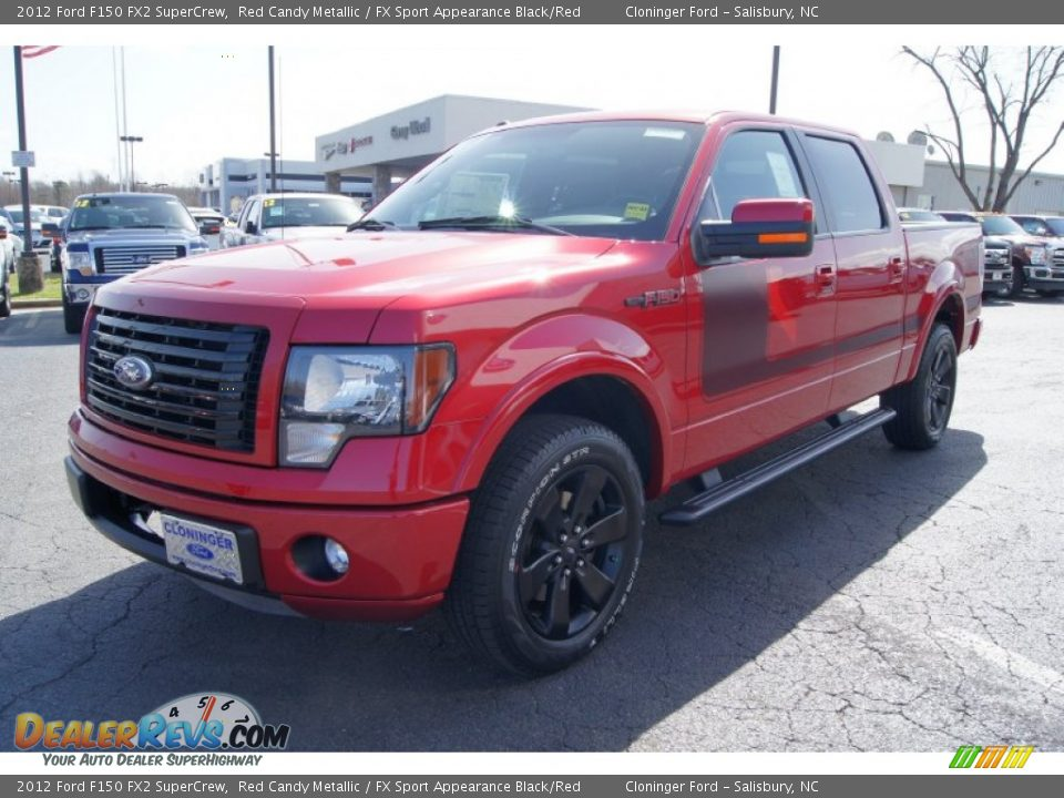 2012 ford f150 fx2 supercrew red candy metallic fx sport appearance black red photo 6. Black Bedroom Furniture Sets. Home Design Ideas