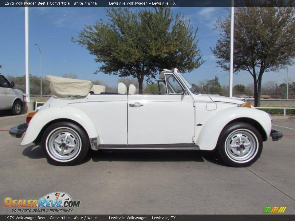 White 1979 Volkswagen Beetle Convertible Photo 6