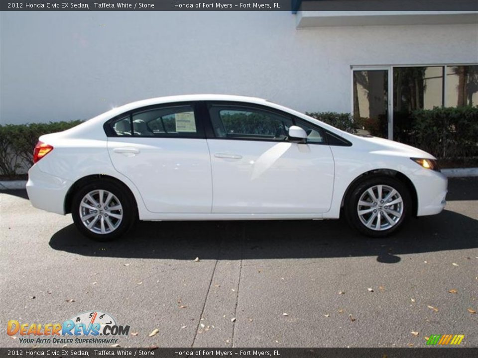 2012 honda civic ex sedan taffeta white stone photo 2 for 2012 honda civic white