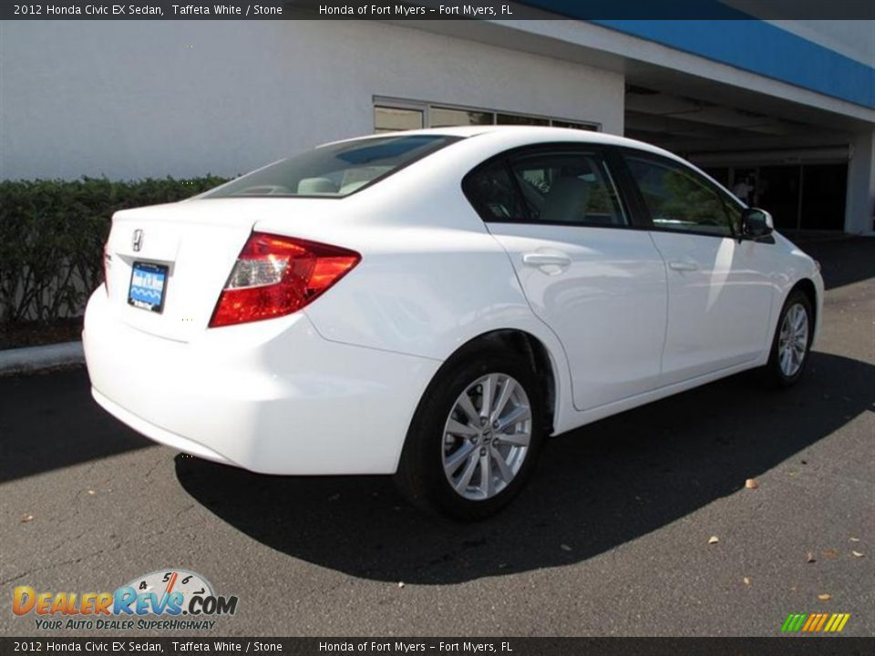2012 honda civic ex sedan taffeta white stone photo 3 for 2012 honda civic white