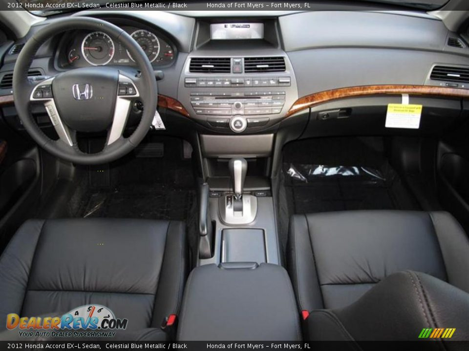 Black Interior 2012 Honda Accord Ex L Sedan Photo 4