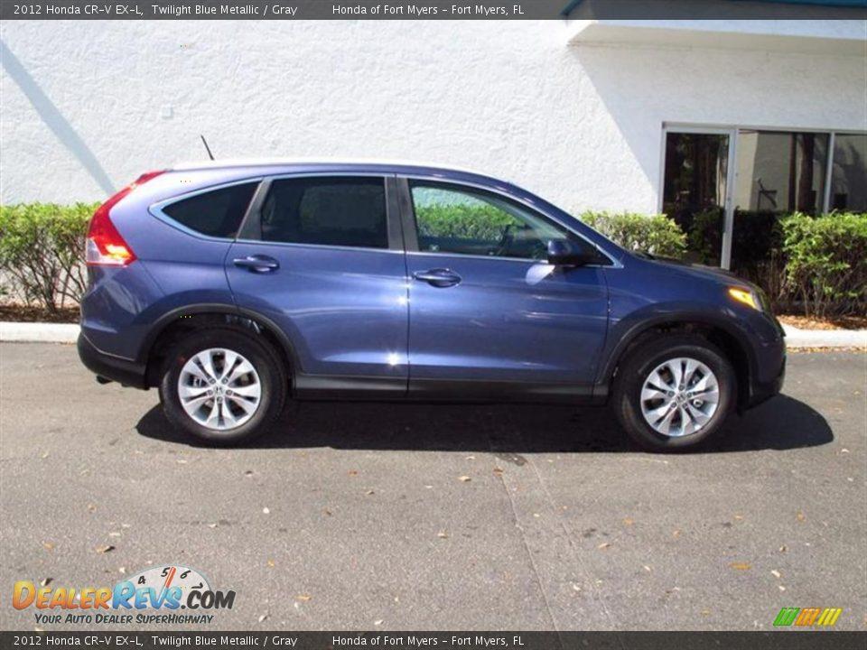 2012 Honda Cr V Ex L Twilight Blue Metallic Gray Photo