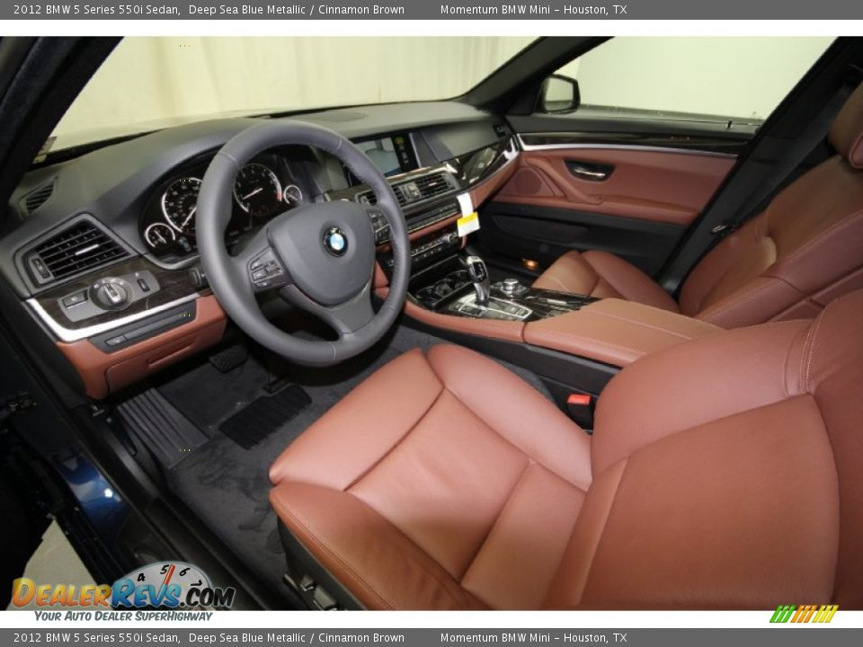 Cinnamon Brown Interior 2012 Bmw 5 Series 550i Sedan Photo 11