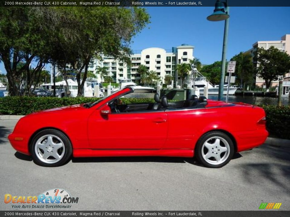 2000 mercedes benz clk 430 cabriolet magma red charcoal. Black Bedroom Furniture Sets. Home Design Ideas