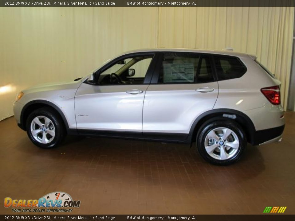 2012 bmw x3 xdrive 28i mineral silver metallic sand beige photo 4. Black Bedroom Furniture Sets. Home Design Ideas