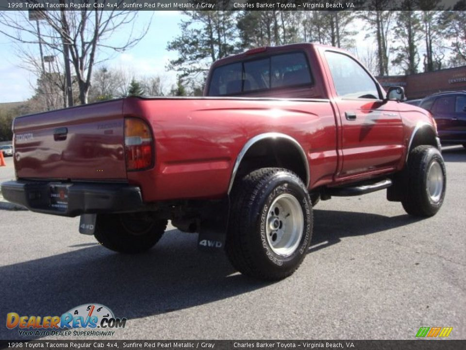 1998 Toyota Tacoma Regular Cab 4x4 Sunfire Red Pearl Metallic / Gray