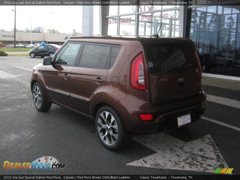 Canyon State Auto >> 2012 Kia Soul Special Edition Red Rock Canyon / Red Rock Brown Cloth/Black Leather Photo #3 ...
