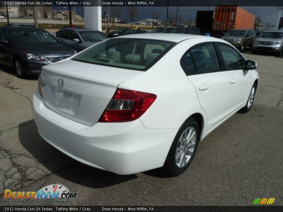 2012 honda civic ex sedan taffeta white gray photo 5 for 2012 honda civic white