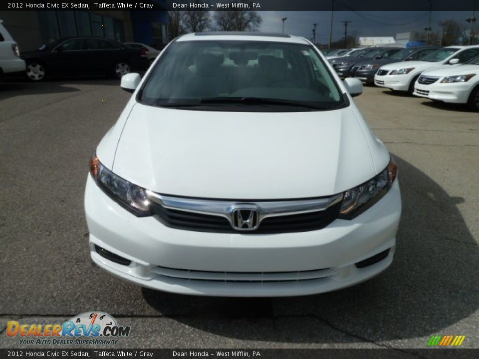 2012 honda civic ex sedan taffeta white gray photo 8 for 2012 honda civic white