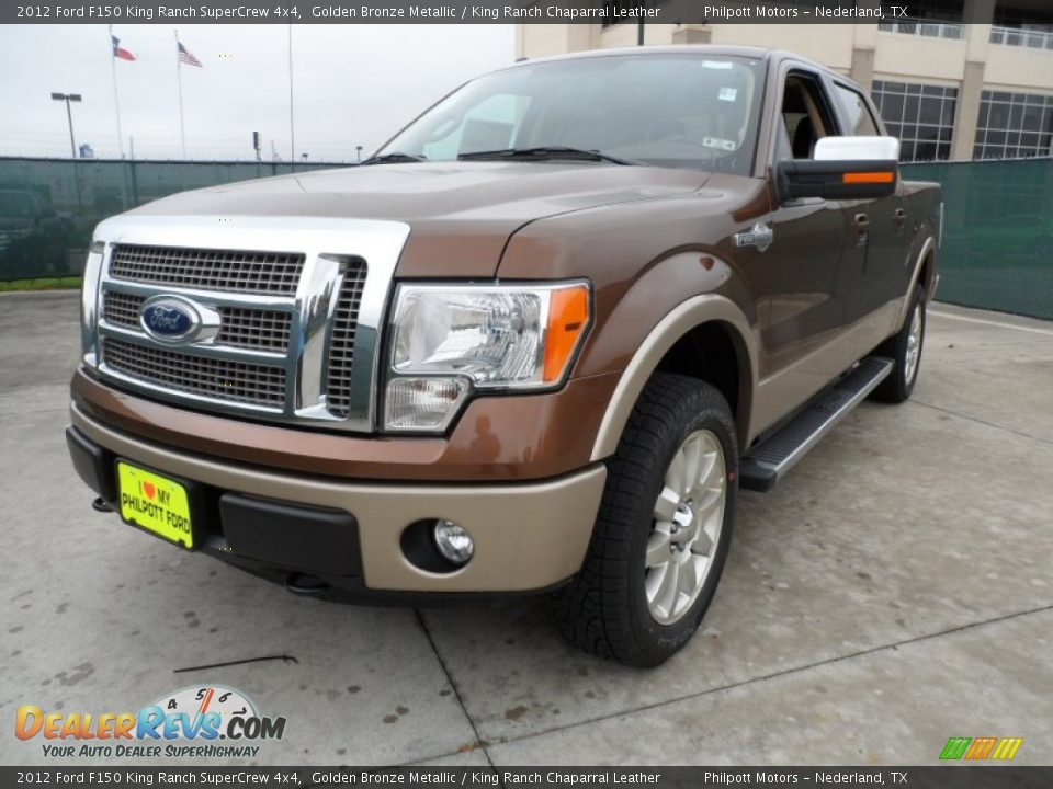 2012 ford f150 king ranch supercrew 4x4 golden bronze for King motors auto sales