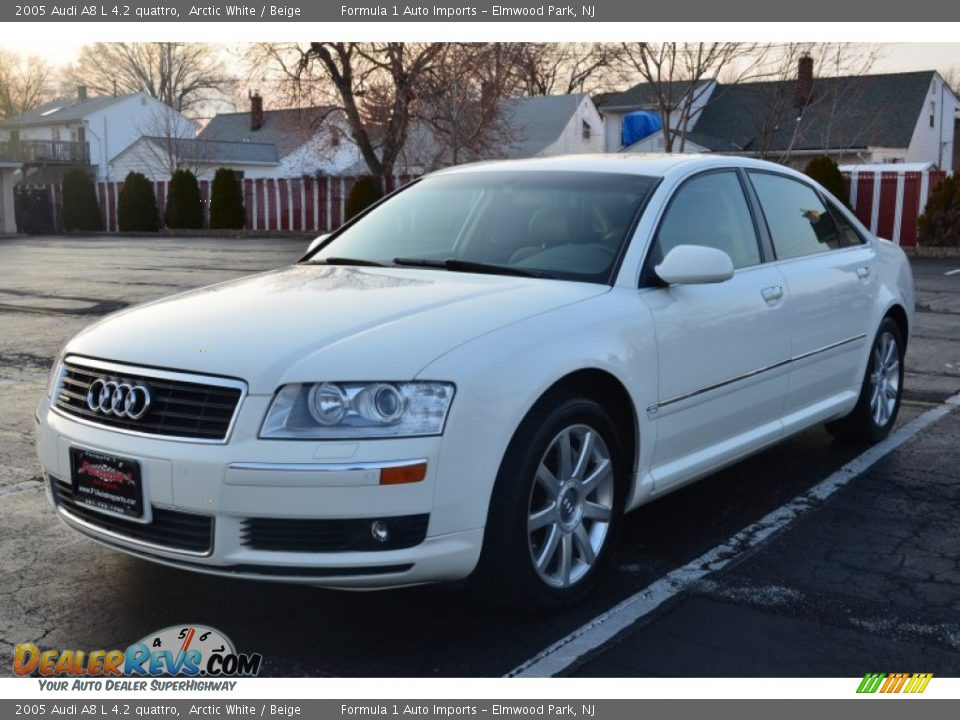 2005 Audi A8 L 4 2 Quattro Arctic White Beige Photo 3
