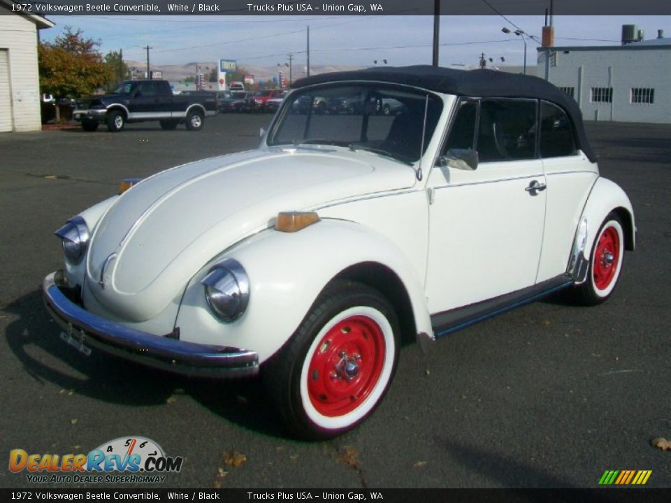 White 1972 Volkswagen Beetle Convertible Photo 5