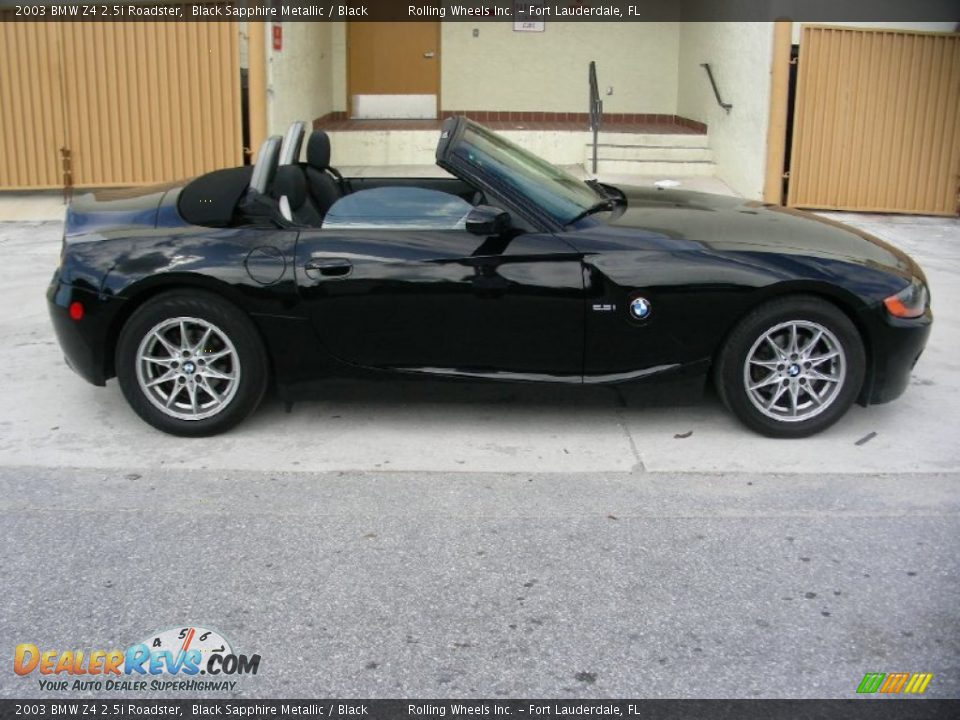 2003 Bmw Z4 2 5i Roadster Black Sapphire Metallic Black