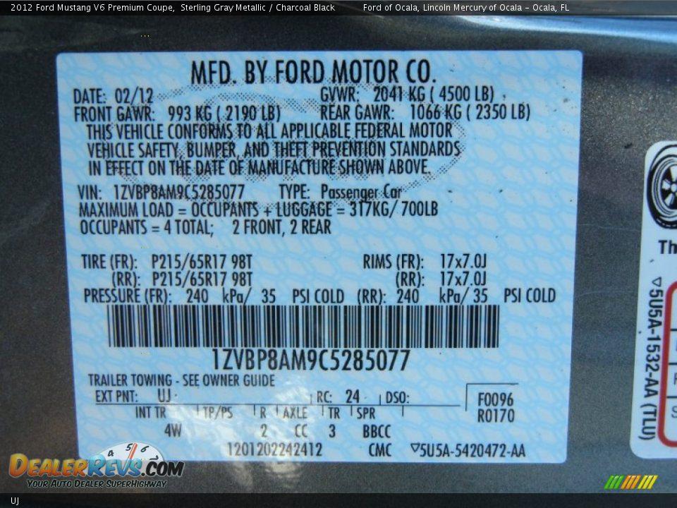 Ford Dealer Locator >> Ford Color Code UJ Sterling Gray Metallic   DealerRevs.com