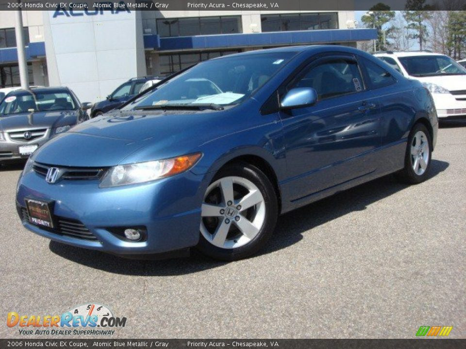 2006 honda civic ex coupe atomic blue metallic gray photo 2. Black Bedroom Furniture Sets. Home Design Ideas