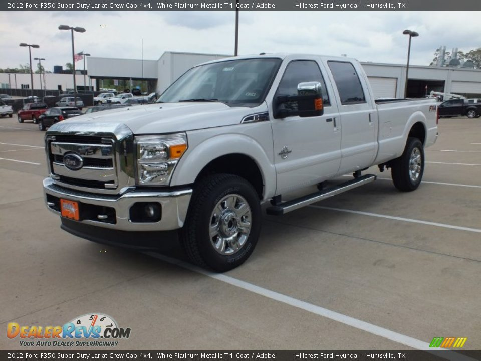 2012 ford f350 super duty lariat crew cab 4x4 white platinum metallic tri coat adobe photo 9. Black Bedroom Furniture Sets. Home Design Ideas